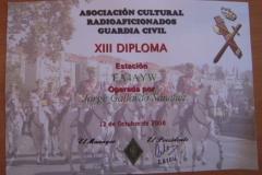 XIII_Diploma_Asociacion_Cultural_Radioaficionados_Guardia_Civil